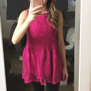 Entro pink tunic top size small